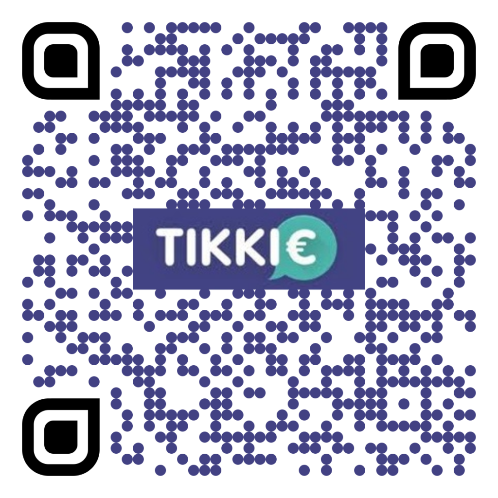 Scan deze QR code mbv uw Tikkie app op uw telefoon